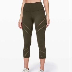 "Lululemon Wunder Under High-Rise Crop 21"" *Mesh"